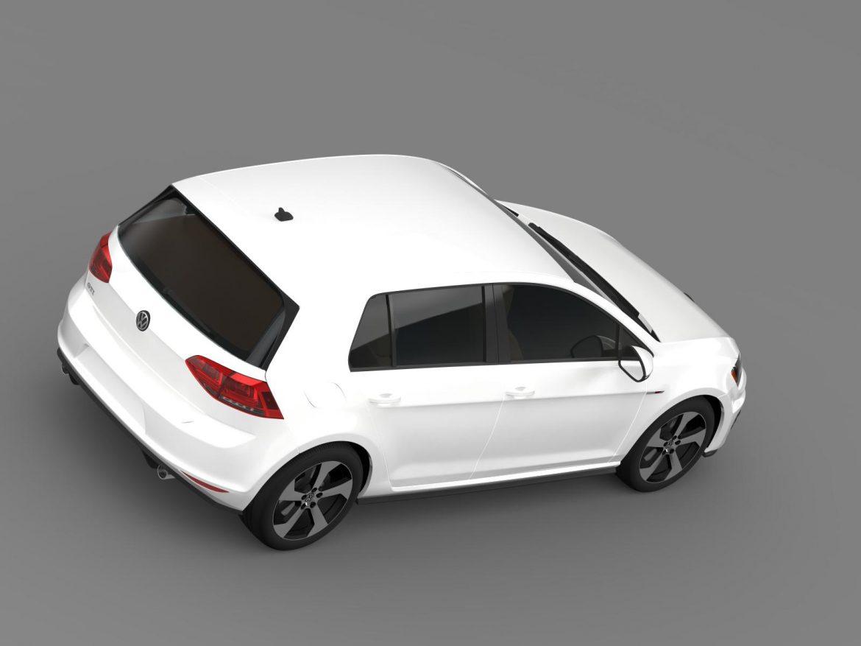 2015 Volkswagen гольфийн gti 5 хаалга 3d загвар 3ds max fbx c4d lwo ma mb hrc xsi obj 164678