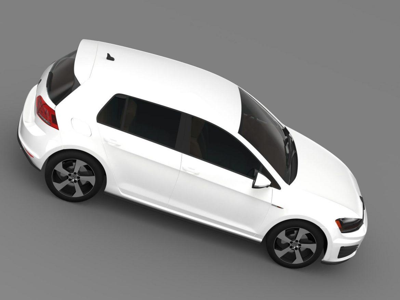 2015 Volkswagen гольфийн gti 5 хаалга 3d загвар 3ds max fbx c4d lwo ma mb hrc xsi obj 164679