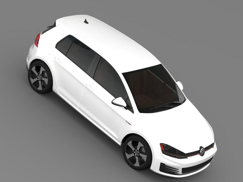 2015 Volkswagen гольфийн gti 5 хаалга 3d загвар 3ds max fbx c4d lwo ma mb hrc xsi obj 164680