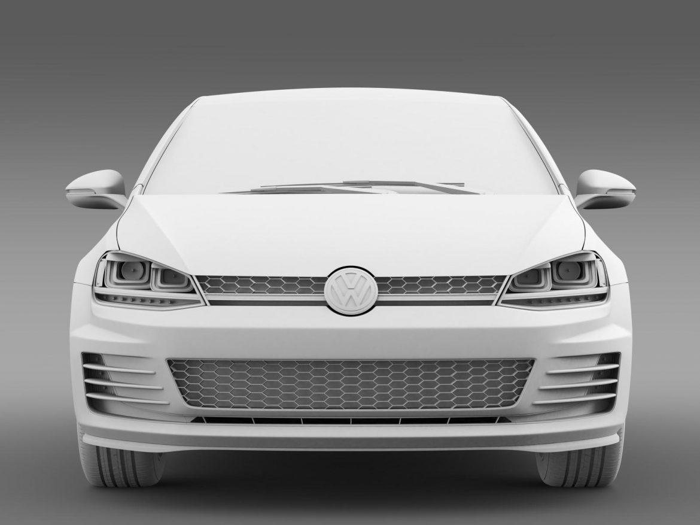 2015 Volkswagen гольфийн gti 5 хаалга 3d загвар 3ds max fbx c4d lwo ma mb hrc xsi obj 164681