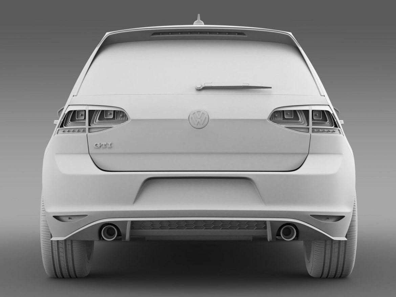 2015 Volkswagen гольфийн gti 5 хаалга 3d загвар 3ds max fbx c4d lwo ma mb hrc xsi obj 164682
