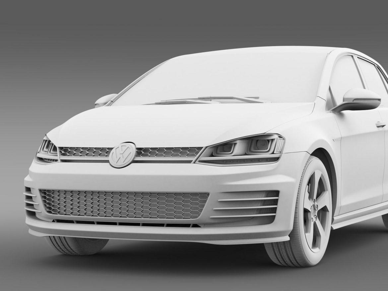 2015 Volkswagen гольфийн gti 5 хаалга 3d загвар 3ds max fbx c4d lwo ma mb hrc xsi obj 164683