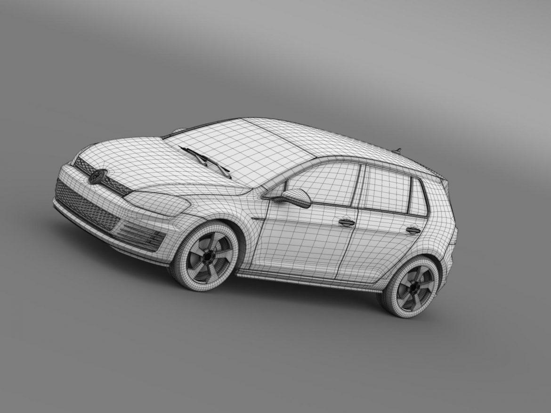 2015 Volkswagen гольфийн gti 5 хаалга 3d загвар 3ds max fbx c4d lwo ma mb hrc xsi obj 164684