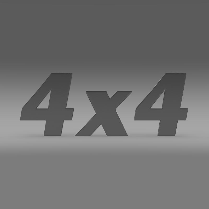 4×4 logo 3d model 3ds max fbx c4d lwo ma mb hrc xsi obj 151090