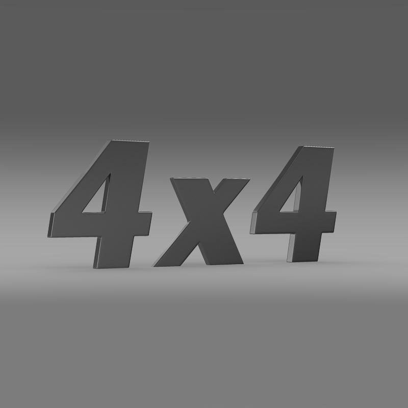 4×4 logo 3d model 3ds max fbx c4d lwo ma mb hrc xsi obj 151091