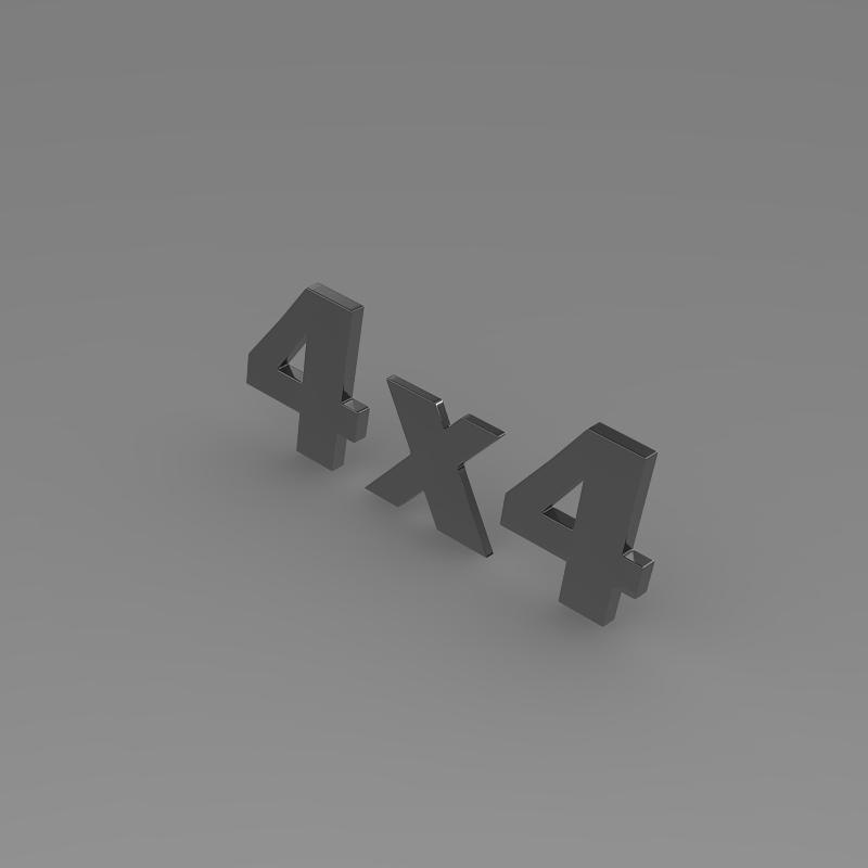 4×4 logo 3d model 3ds max fbx c4d lwo ma mb hrc xsi obj 151092