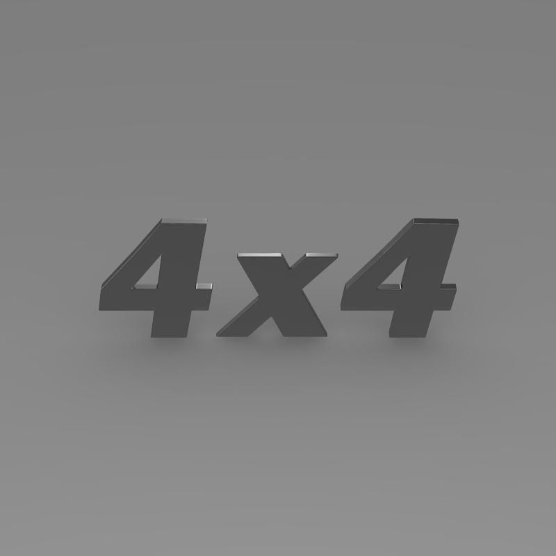 4×4 logo 3d model 3ds max fbx c4d lwo ma mb hrc xsi obj 151093