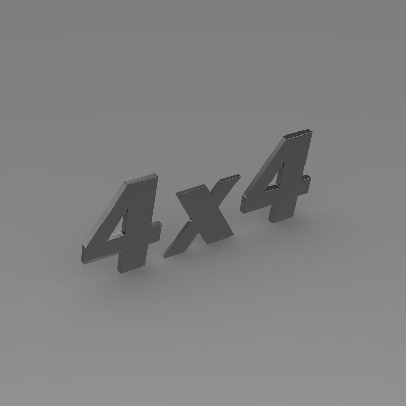 4×4 logo 3d model 3ds max fbx c4d lwo ma mb hrc xsi obj 151094