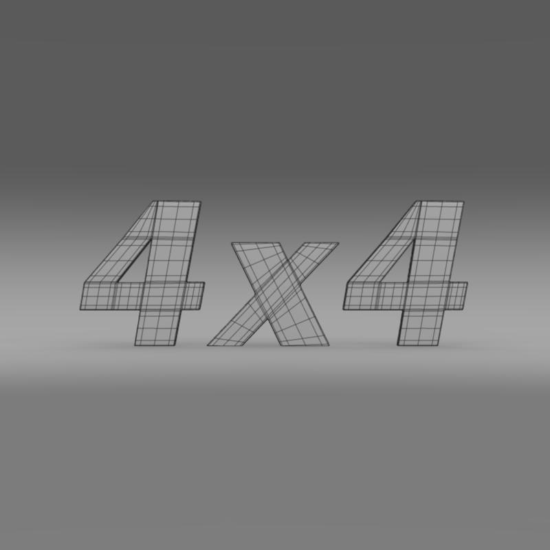 4×4 logo 3d model 3ds max fbx c4d lwo ma mb hrc xsi obj 151095