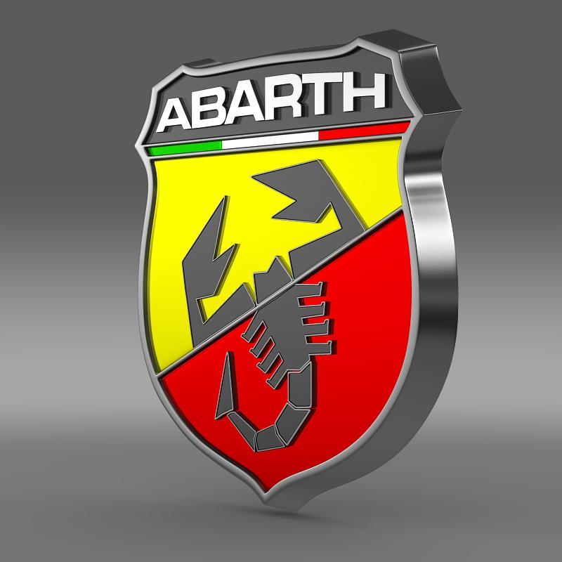 アバルトのロゴ3dモデル3ds最大fbx c4d新しい2つのmb hrc xsi obj 124113
