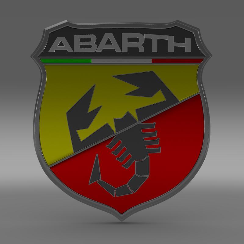 abarth logo 3d model 3ds max fbx c4d lwo ma mb hrc xsi obj 124114