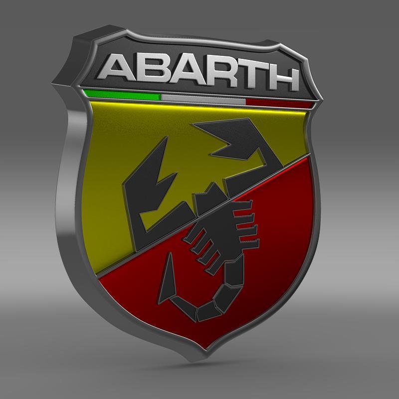 abarth logo 3d model 3ds max fbx c4d lwo ma mb hrc xsi obj 124115