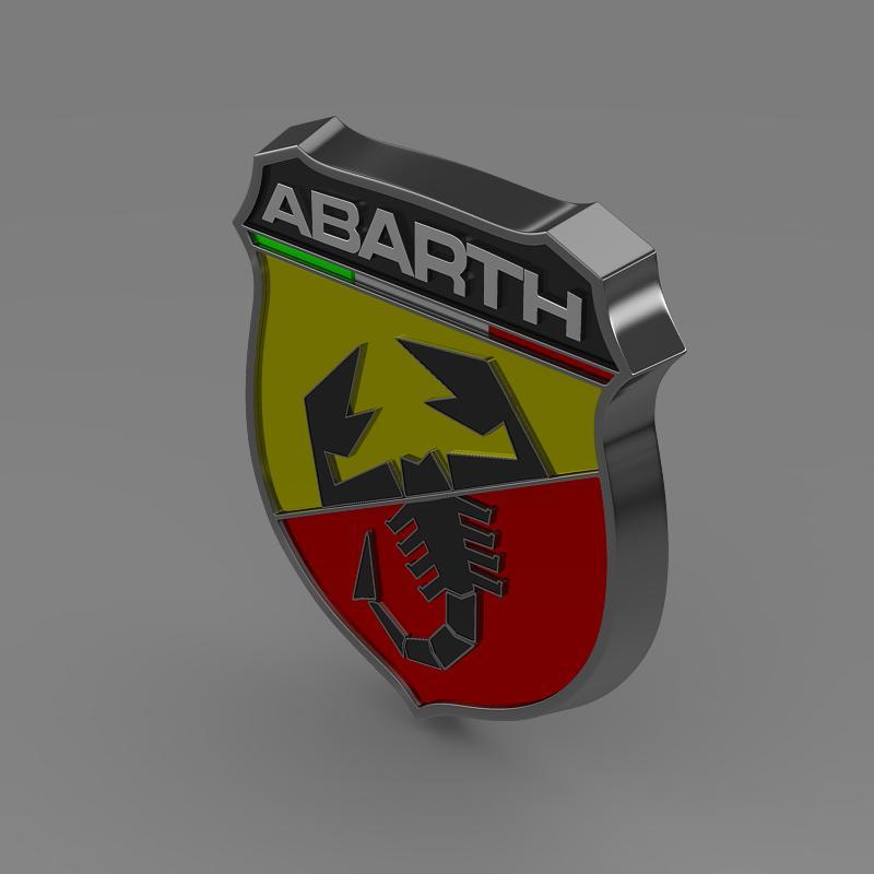 abarth logo 3d model 3ds max fbx c4d lwo ma mb hrc xsi obj 124116