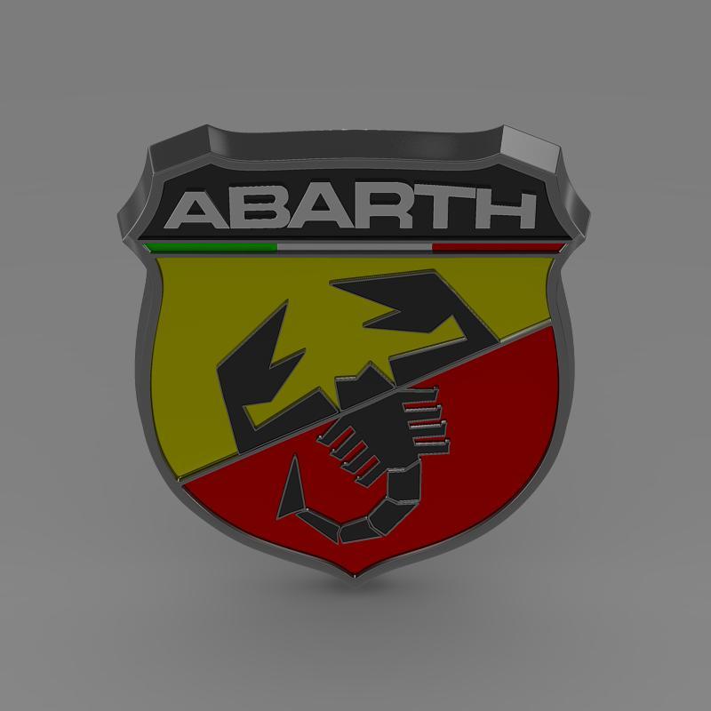 abarth logo 3d model 3ds max fbx c4d lwo ma mb hrc xsi obj 124117