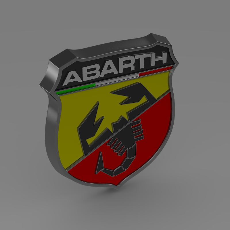 abarth logo 3d model 3ds max fbx c4d lwo ma mb hrc xsi obj 124118
