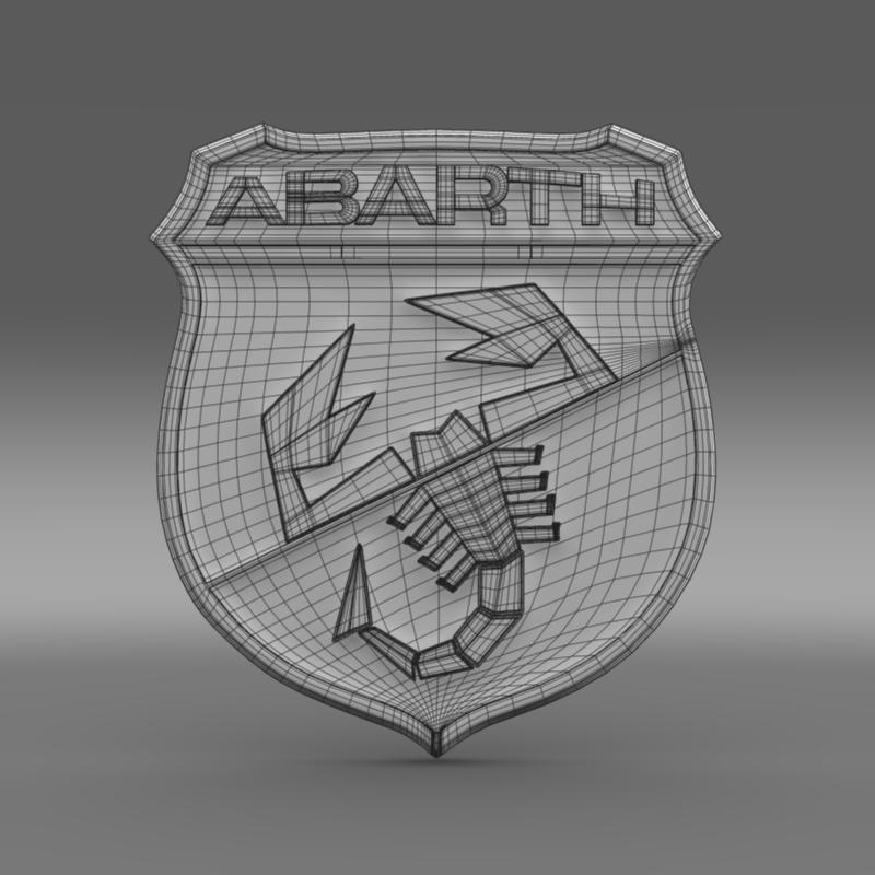 abarth logo 3d model 3ds max fbx c4d lwo ma mb hrc xsi obj 124119