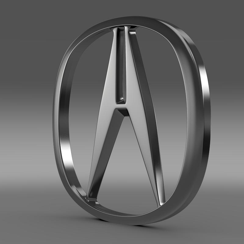 acura logotip 3d model 3ds max fbx c4d