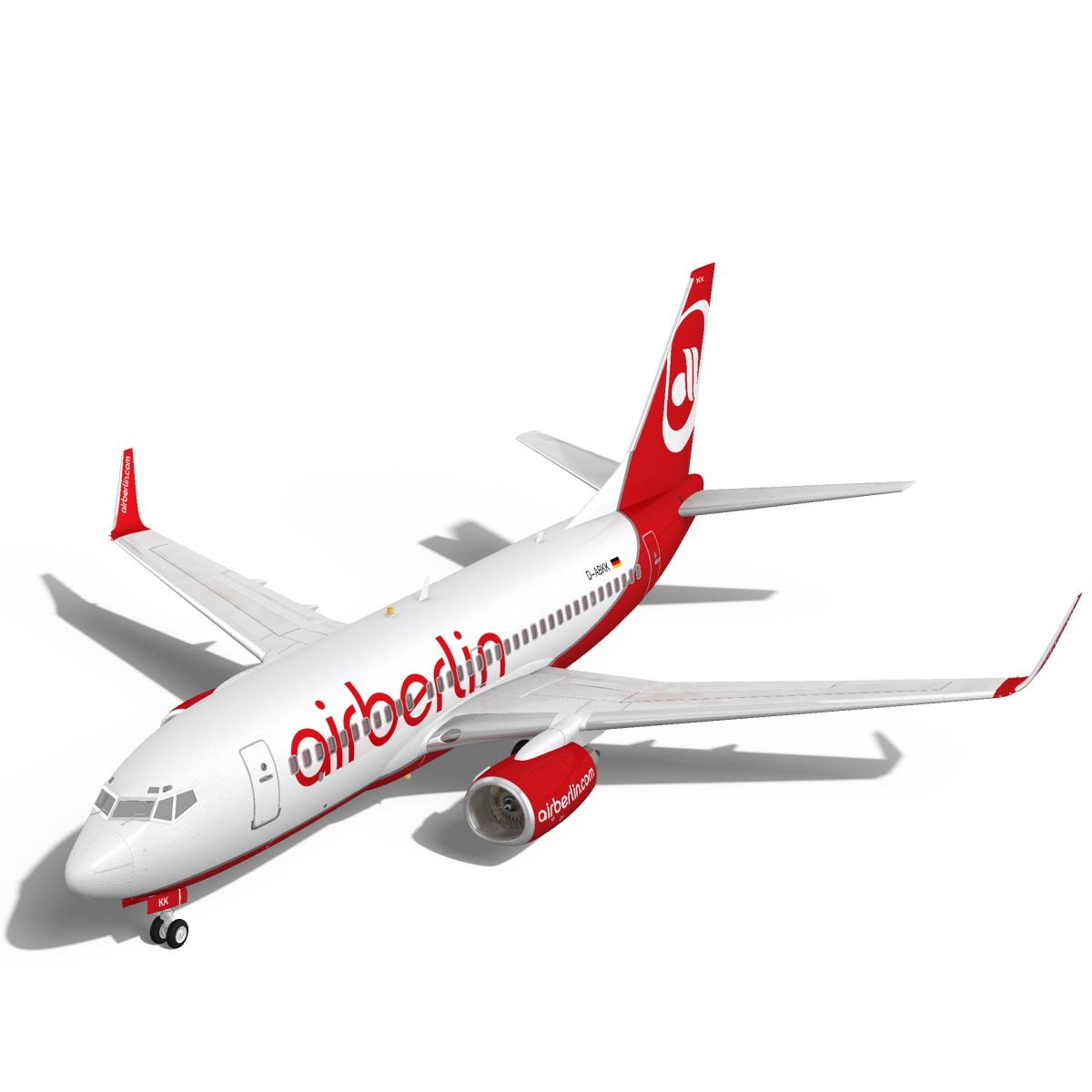 airberlin boeing 737-700w 3d model max fbx c4d ma mb obj 120509