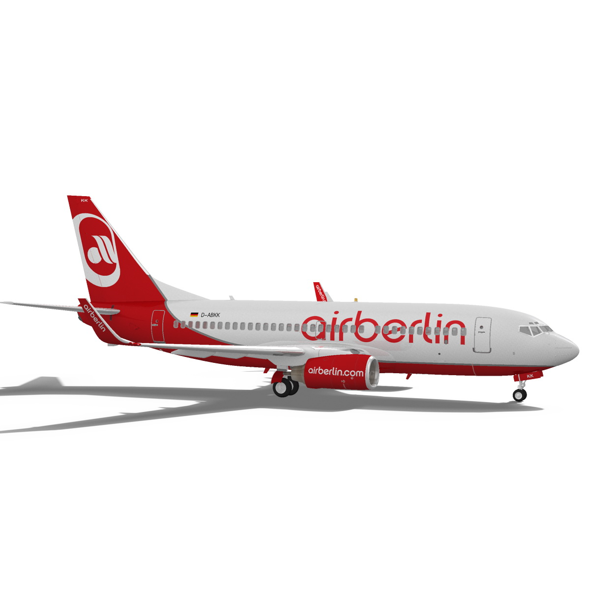 airberlin boeing 737-700w 3d model max fbx c4d ma mb obj 120511