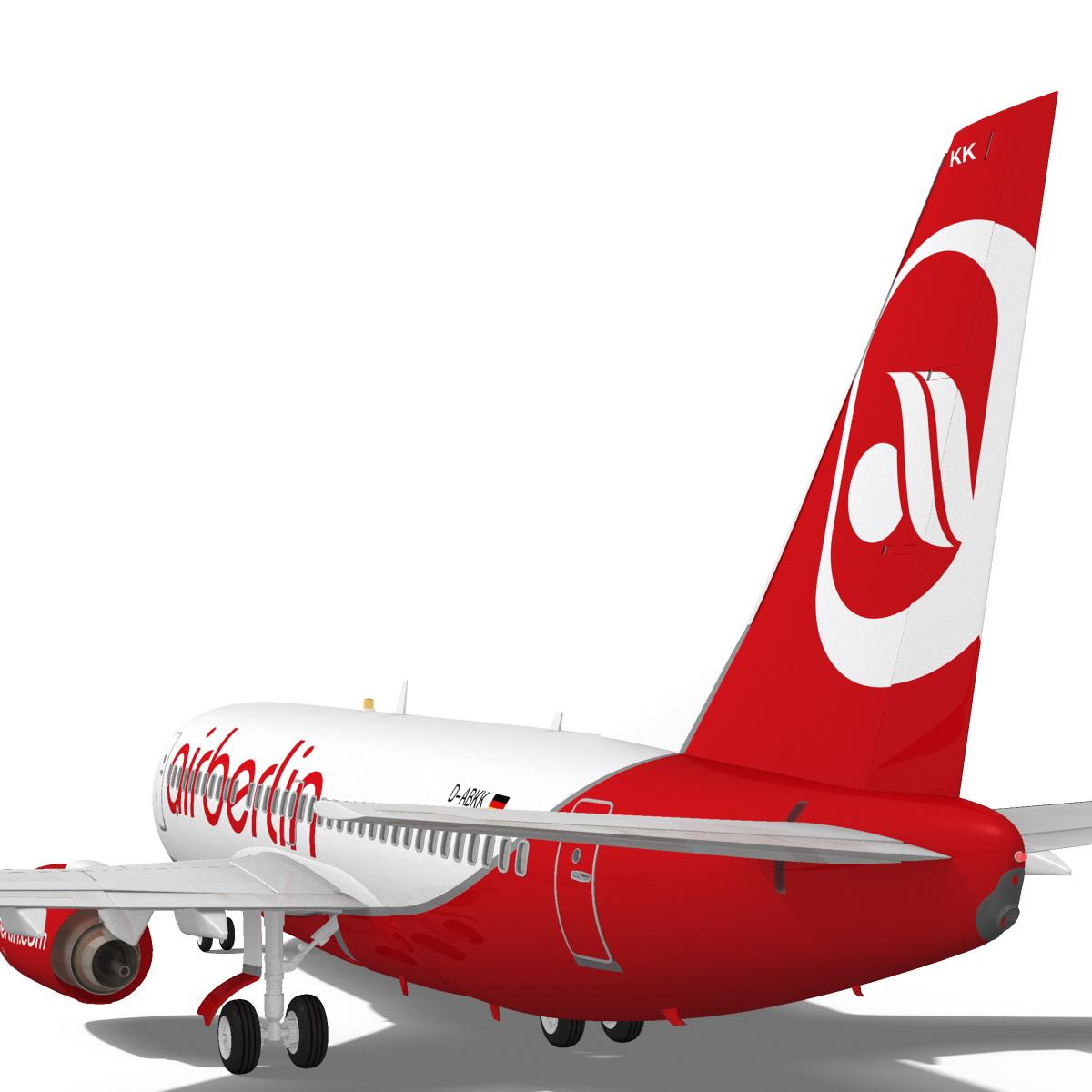 airberlin boeing 737-700w 3d model max fbx c4d ma mb obj 120513