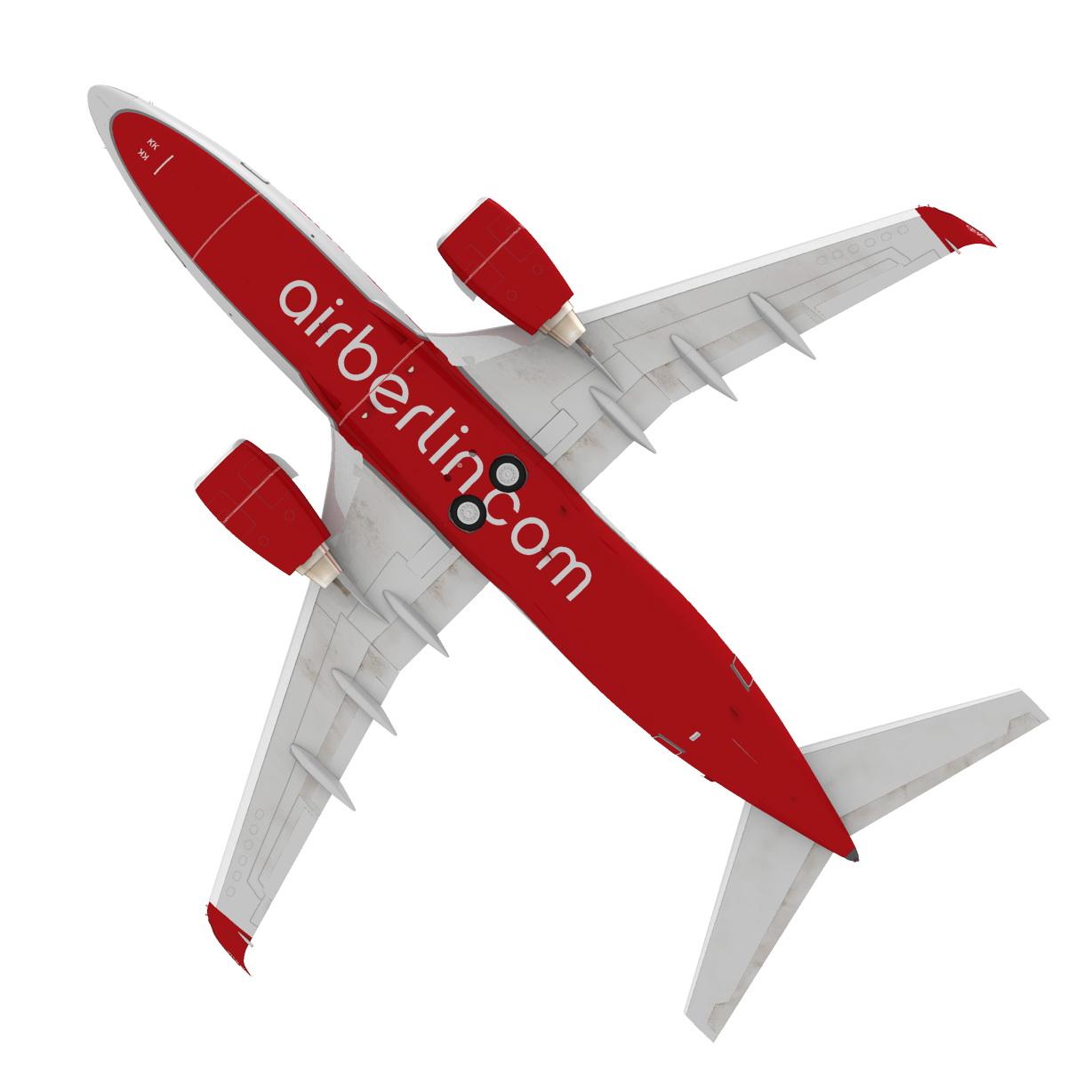 airberlin boeing 737-700w 3d model max fbx c4d ma mb obj 120515