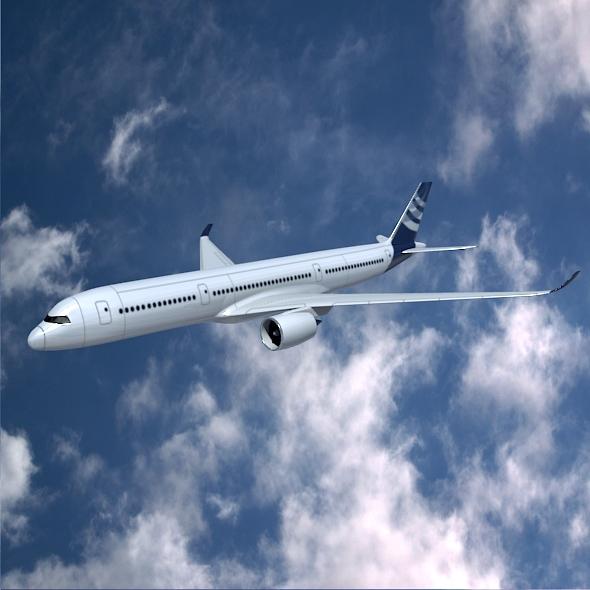 airbus a350-900 komercijalni zrakoplov 3d model 3ds fbx mješavina dae lwo obj 163413