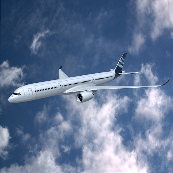 airbus a350-900 samolot komercyjny 3d model 3ds fbx blend dae lwo obj 163413