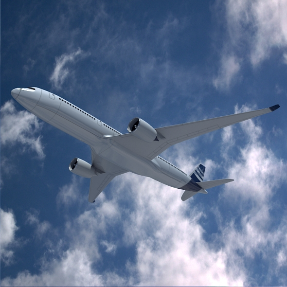 airbus a350-900 commercial aircraft 3d model 3ds fbx blend dae lwo obj 163415