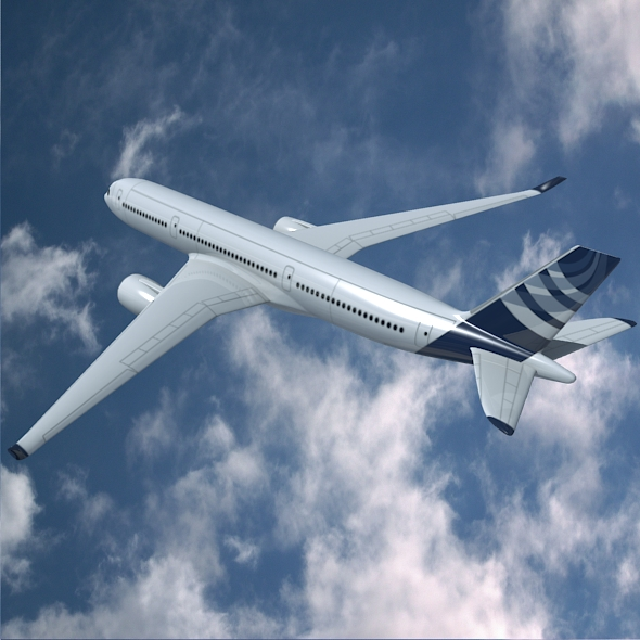 airbus a350-900 commercial aircraft 3d model 3ds fbx blend dae lwo obj 163417