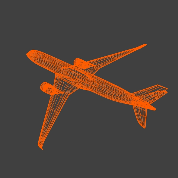 airbus a350-900 commercial aircraft 3d model 3ds fbx blend dae lwo obj 163421