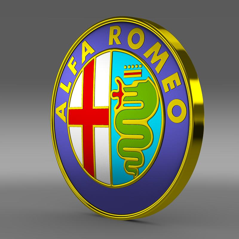 alfa romeo logotip 3d model 3ds max fbx c4d