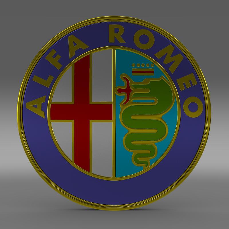alfa romeo logo 3d model 3ds max fbx c4d lwo ma mb hrc xsi obj 119000