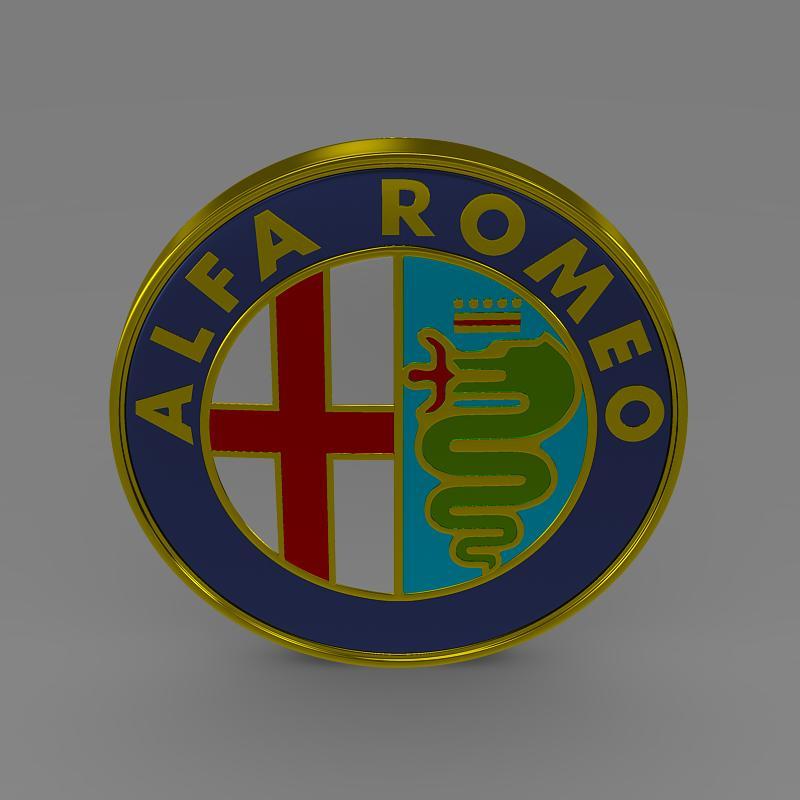 alfa romeo logo 3d model 3ds max fbx c4d lwo ma mb hrc xsi obj 119003