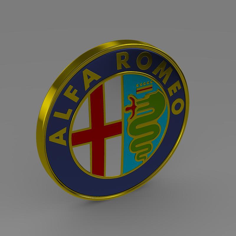 alfa romeo logo 3d model 3ds max fbx c4d lwo ma mb hrc xsi obj 119004