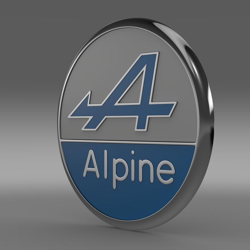 alpine logo 3d model 3ds max fbx c4d lwo ma mb hrc xsi obj 162618