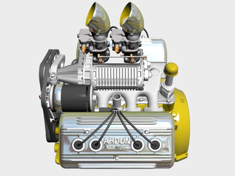 ardun s.co.t. blower v8 engine 3d model 3ds 136385