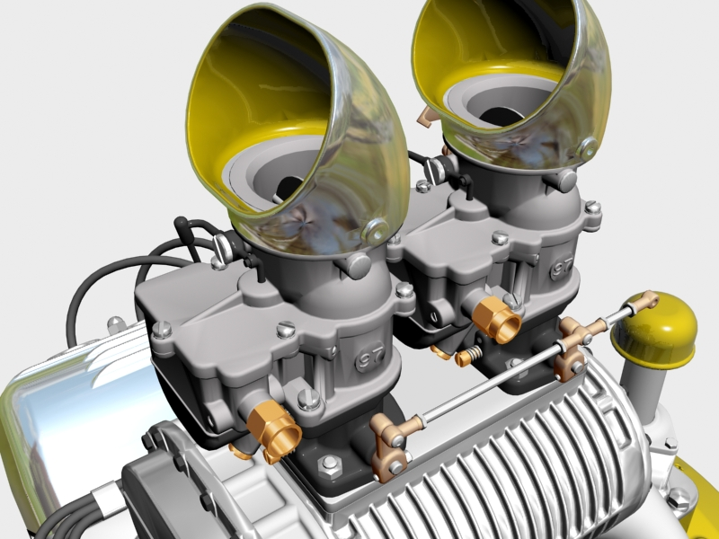 ardun s.co.t. blower v8 engine 3d model 3ds 136387