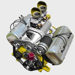 Ardun S.Co.T. Blower V8 Engine 3d model 3ds