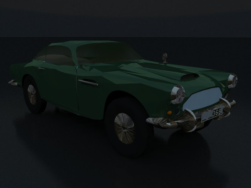 aston martin db4 3d model 3ds dxf dwg skp obj 163539