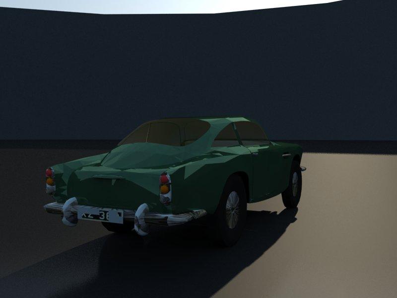 aston martin db4 3d model 3ds dxf dwg skp obj 163540