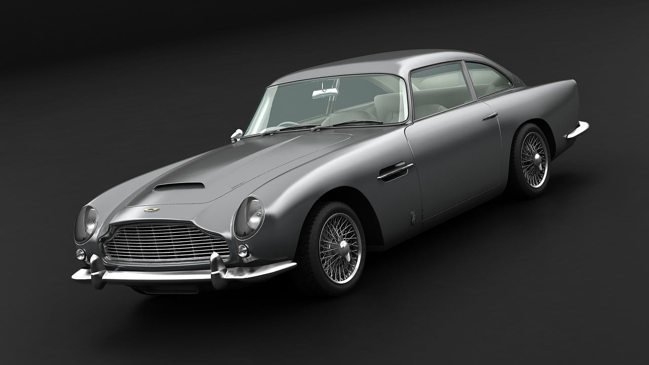 aston martin db5 vantage 1964 3d model 3ds max fbx c4d 143617