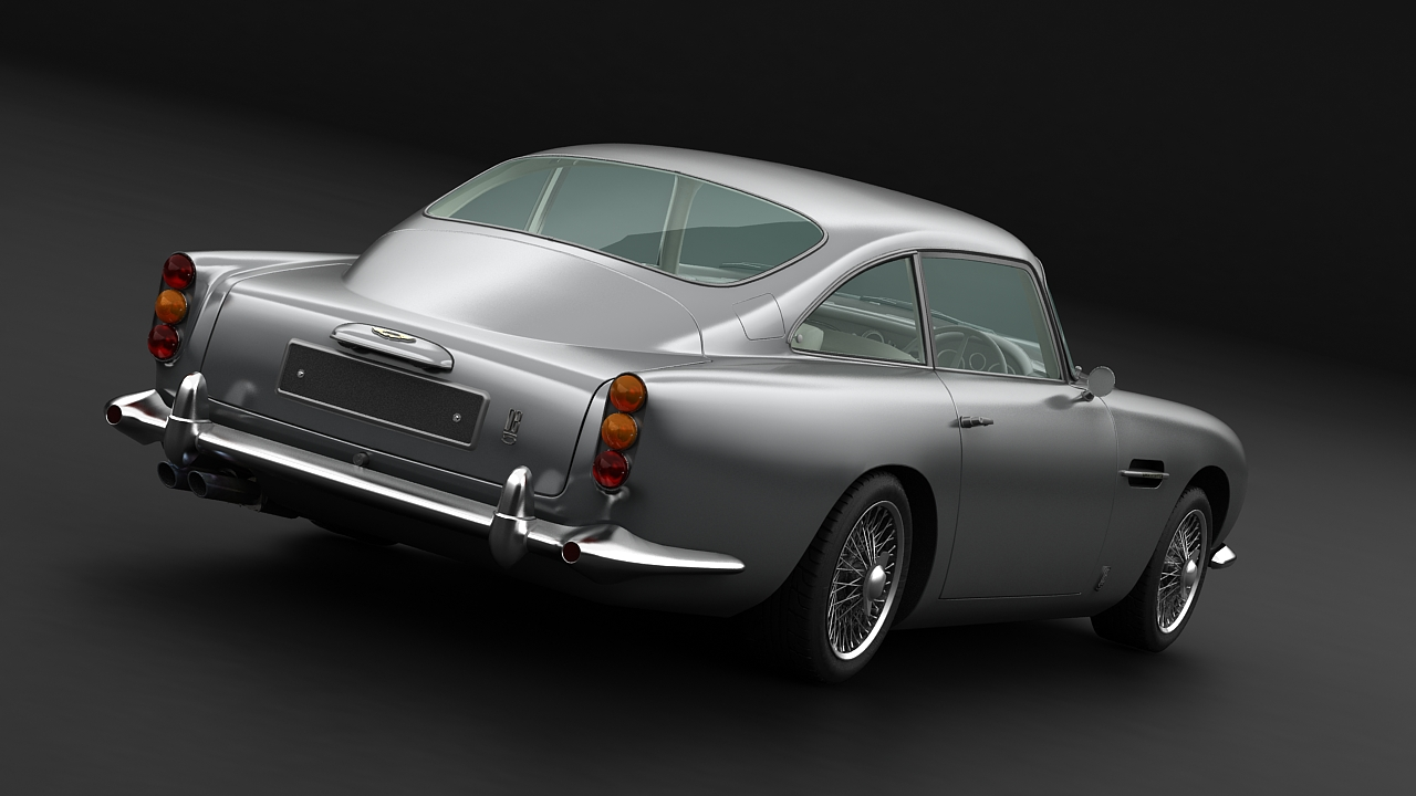 aston martin db5 vantage 1964 3d model 3ds max fbx c4d 143620