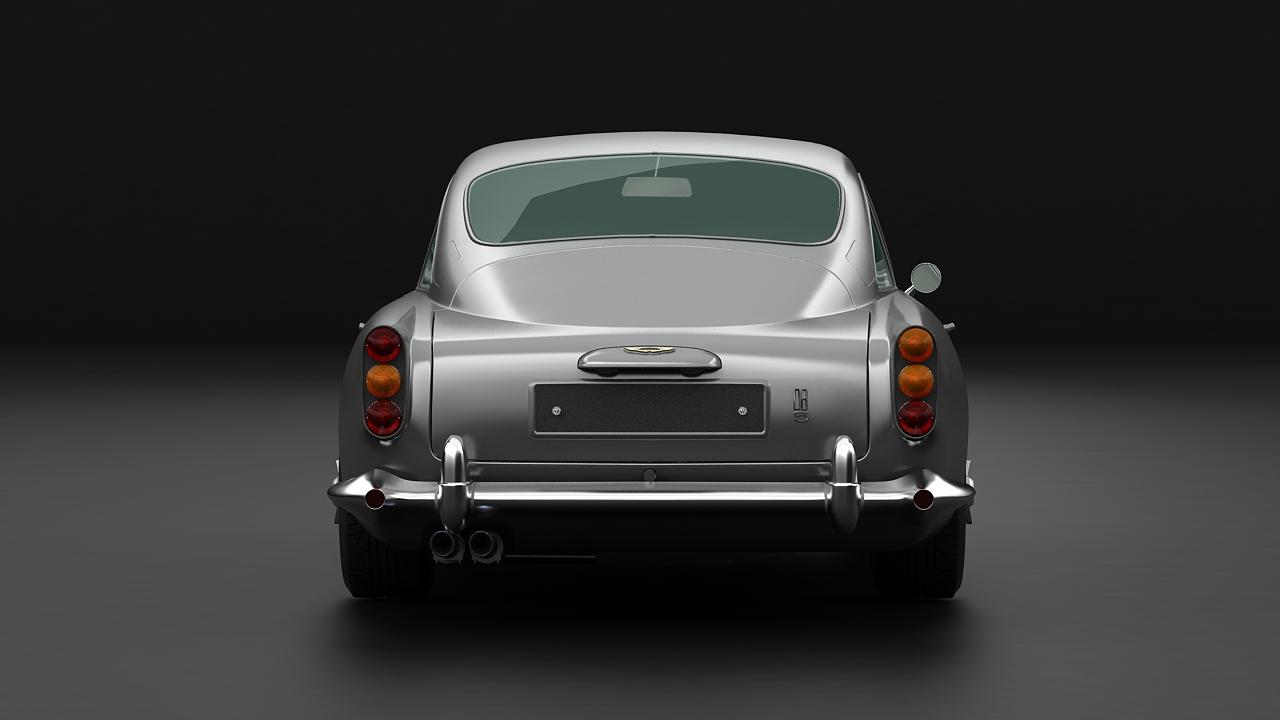 aston martin db5 vantage 1964 3d model 3ds max fbx c4d 143621