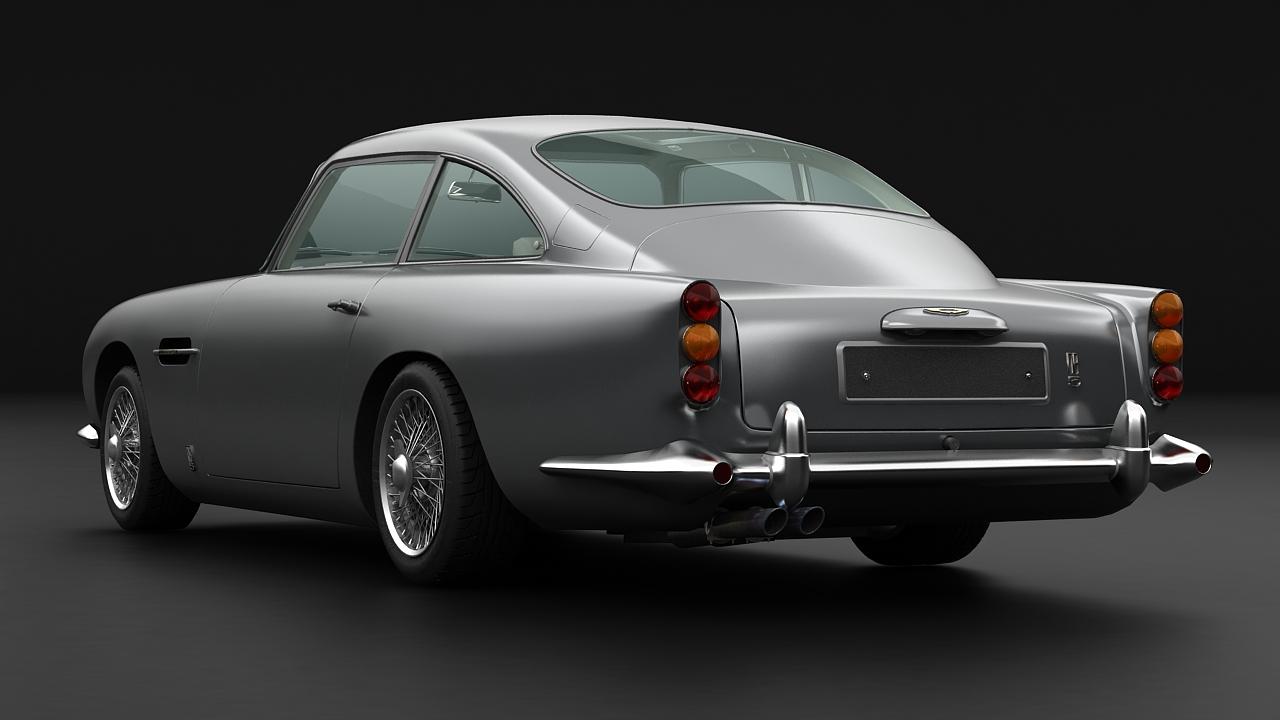aston martin db5 vantage 1964 3d model 3ds max fbx c4d 143623