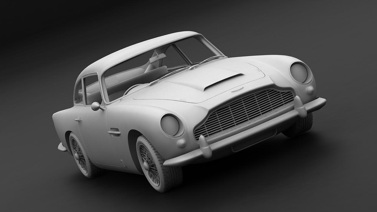 aston martin db5 vantage 1964 3d model 3ds max fbx c4d 143625