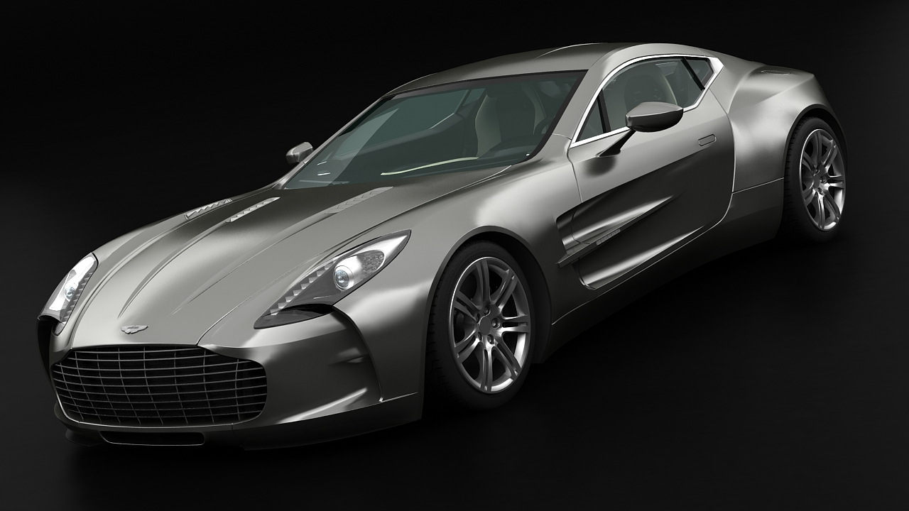 aston martin one77 2010 3d model 3ds max fbx c4d 144588