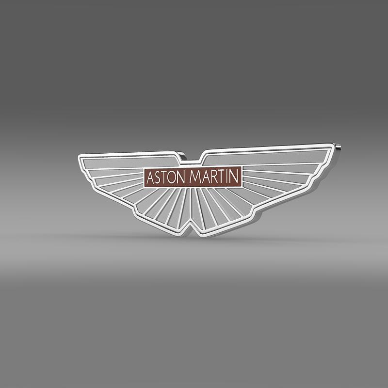 aston martin zagato logotip 3d model 3ds max fbx c4d
