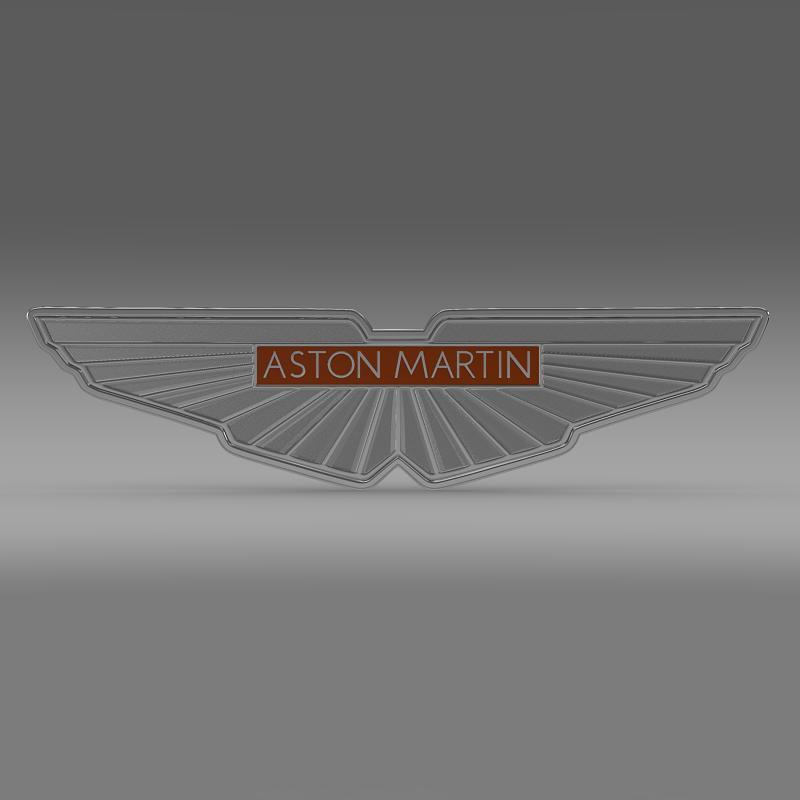 aston martin zagato logo 3d model 3ds max fbx c4d lwo ma mb hrc xsi obj 151104