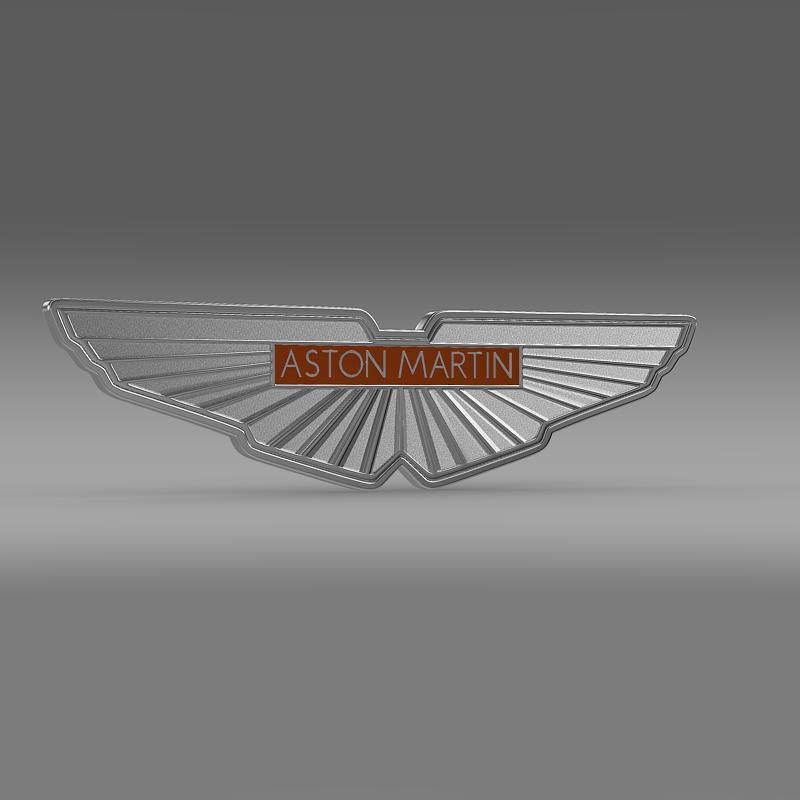aston martin zagato logo 3d model 3ds max fbx c4d lwo ma mb hrc xsi obj 151105