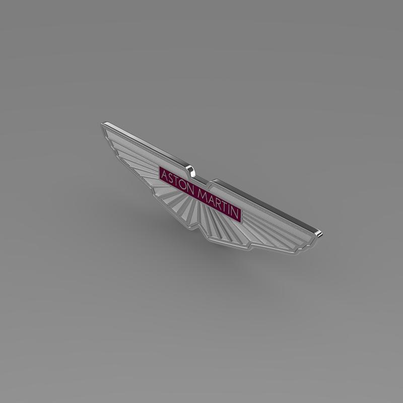 aston martin zagato logo 3d model 3ds max fbx c4d lwo ma mb hrc xsi obj 151106
